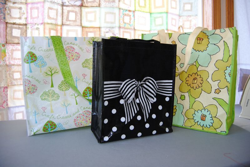 Wrap your gifts with old, unused purse or create your own tote for them.